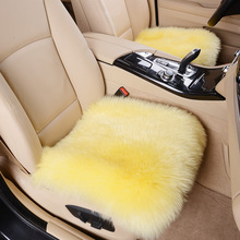 BigAnt Car Wool Cushion /Car Seat Cover Plush Seat Pad Accessories Warm Wool Cushion Cover Wool Mat Used in Home and Office 1Pcs