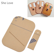 Korean Style Hasp Buckle Card Holder Template Clear Acrylic Leather Pattern for Leathercraft(China)