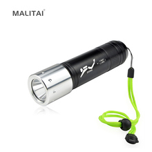 Portable Aluminum Underwater Diving LED Flashlight Rechargeable CREE XM-L L2 LED Torch light lamp Hunting Camping Dive lighting