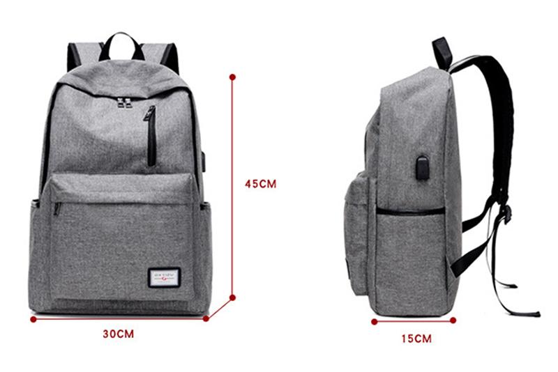 حقيبة مدرسية سوداء USB 9