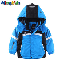 Mingkids Outdoor thermal jacket Waterproof Windproof coat for boys spring autumn European Size boy ski jacket(China)
