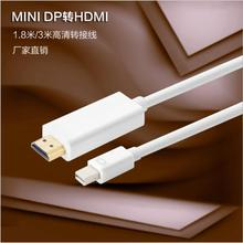 free shipping Manufacturers supply mini dp to hdmi adapter cable 1.8 m / 3 m mini dp to hdmi line(China)