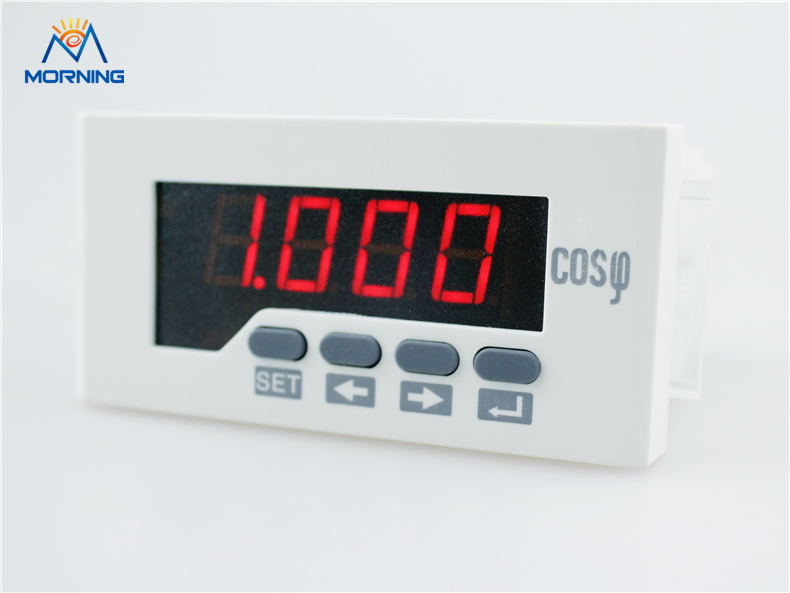 H51 AC 1A 5A 96*48mm LED display single phase digital power factor meter support RS-485 communications  Modbus-RTU protocol<br>