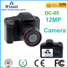 Freeshipping 12MP 5.0MP CMOS Professional Camera Digital H.264 HD 720P DSLR Camera Micro SD Card Slot 10s Self-Timer PC Cam