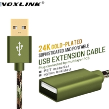 VOXLINK USB Extender cable 1m 2m 3m 5m USB male to female Extend Extension Cord USB Charger Adapter for PC Laptop