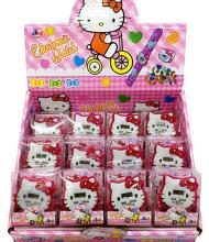 New 12pcs /set  Popular Hello Kitty  Children Cartoon Clap watch Digital watches For Best  Gift P-07