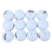12pcs/Set Outdoor Sport Golf Game Training Match Competition Rubber Three Layers High Grade Golf Ball White(China)
