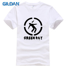 Loose Funny Crew Neck Men Short Sleeve Best Friend Create Office Design Green Day Shirts(China)