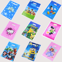 Little Pony Birthday Party Pokemon Go Decoration Loot Bags Minnie Kids Favors Minions Gift Bag Baby Shower Supplies 10pcs\lot