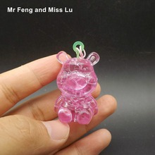 Finished 3D Crystal Puzzle Jigsaw Mini Bear Learning Education For Children Christmas Gift(China)
