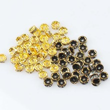 2017 New 6mm Gold Bronze Plated Crystal AAA Rhinestone Rondelle Spacer Beads For Jewelry Handmade 100Pcs Wholesale YKL0528-6X(China)