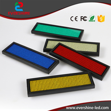 11*44 dots red color led name badges,led name tag led sign scrolling text message,Rechargable led Business card Luminous badges