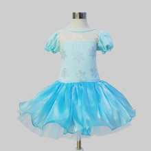 SAMGAMI BABY 2017 Kids Cartoon Princess Dress Girl`s Blue Lovely Halloween Christmas Dance  Snowflake Dresses