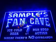 DZ068- Name Personalized Custom Bar Soccer Football Fan Cave Man Beer Neon Sign hang sign home decor shop crafts(China)