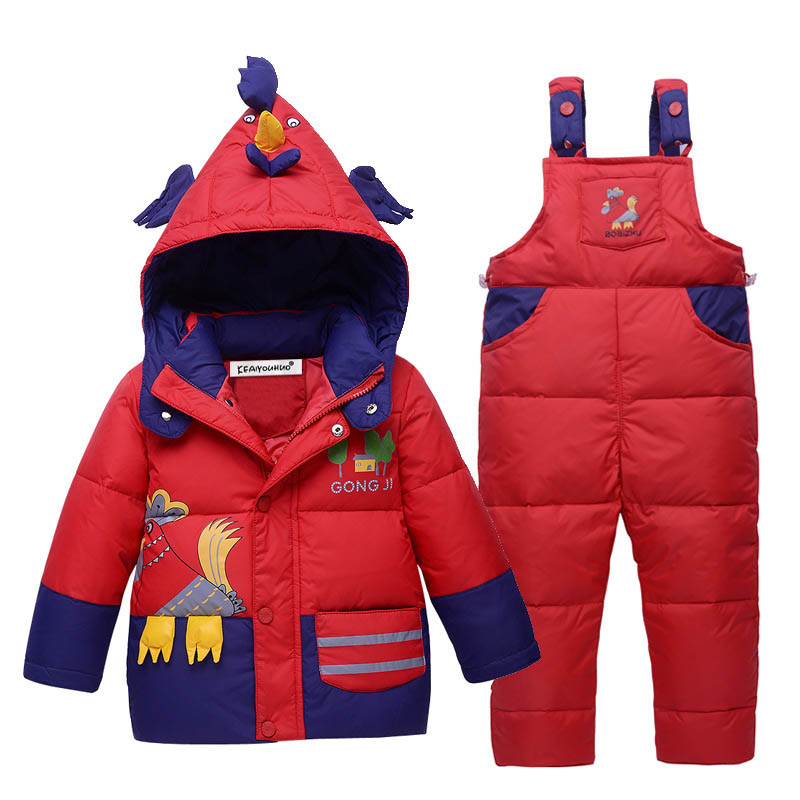 Baby Boy Clothes Sets Hooded Down Jackets For Girls Coats+Pants Children Clohting Sets Winter Girls Sport Suit Kids Clothes Sets<br>