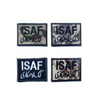3D Embroidery armband Loop And Hook ISAF patch International Security Assistance in Afghanistan patch Camouflage clothing patch