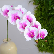 Real touch butterfly orchid artificial flower letax orchid artificial overall floral artificial flowers for wedding(China)