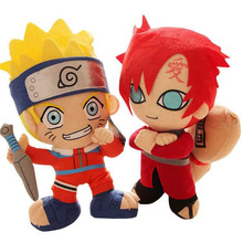30cm Naruto figure stuffed plush dolls 2016 New Cartoon Naruto uchiha sasuke Gaara kakashi figurats party home supply decor(China)