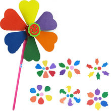 Random 1 piece Colorful Windmill Toy Baby Boy Girl Windmill DIY Plastic Toy Kid Classic Toy(China)