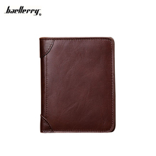 Wallet Men Credit Card Holder Leather Photo Small Mini Male Purse Genuine Leather Cowhide Billfold Hight Quality Pocket Maschio
