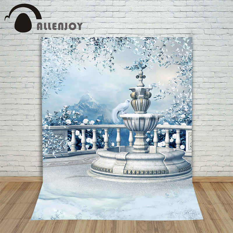 Christmas pictures - background for photos Bird Snow Mountain Winter kids photocall Fairy tale vinyl backdrops for photography<br><br>Aliexpress