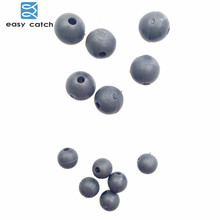 Easy Catch 50pcs Diameter 5mm 7mm Soft Carp Fishing Beads Rubber Dark Grey Round Floating Rig Beads Carp Fishing Accessories