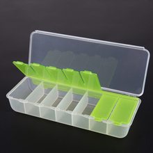 Large Travel Pill Cases Portable 7-Day Medicine Box Tablet Storage Organizer Container Case Colorful pill cutter(China)