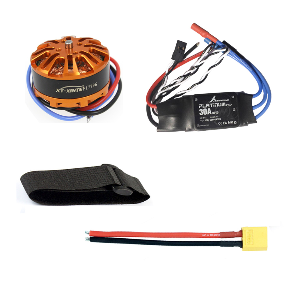 JMT Multi-rotor DIY Helicopter Motor Combo 3508 700kv Motor + HOBBYWING Platinum 30A ESC / XT60 Connector Cable/Fastening Tape<br>