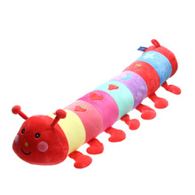1pc Baby Plush Toys Large Dolls Colorful Caterpillar Pillow Doll Stuffed Toy Insects Large Size Dolls Stuff Toy Red Cute Gift