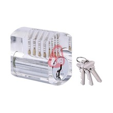 Transparent Lock Clear Practice Locksmith Tools Visible Cutaway Lock with Standard Pins