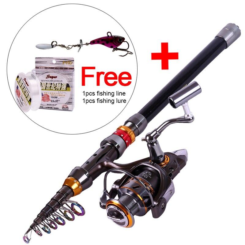 Sougayilang 1.8-3.6m Telescopic Rod and 12+1BB Reel Set Fishing 99% Carbon Materials of Rod Carp Fishing Rod and Reel Combo Kit<br>