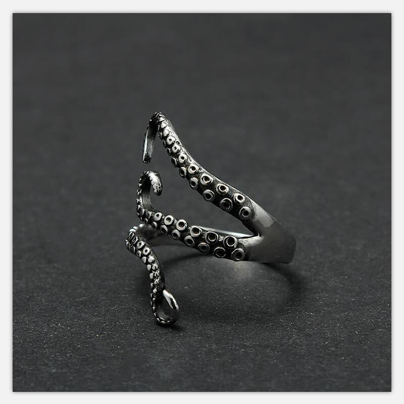 Octopus steel ring