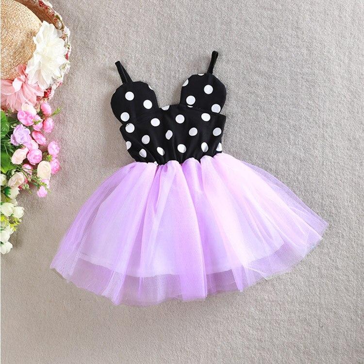 Mickey Polka Dot Pattern Baby Girls Halter Lace Bubble Dress Children Sleeveless Mesh Sling Dress Kids Cute Princess Party Wear<br><br>Aliexpress