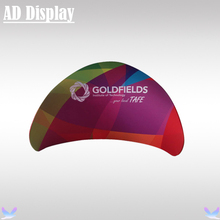 High Quality Trade Show Booth Portable Semi-Circle Advertising Display Banner Stand With One Side Full Color Printing(China)