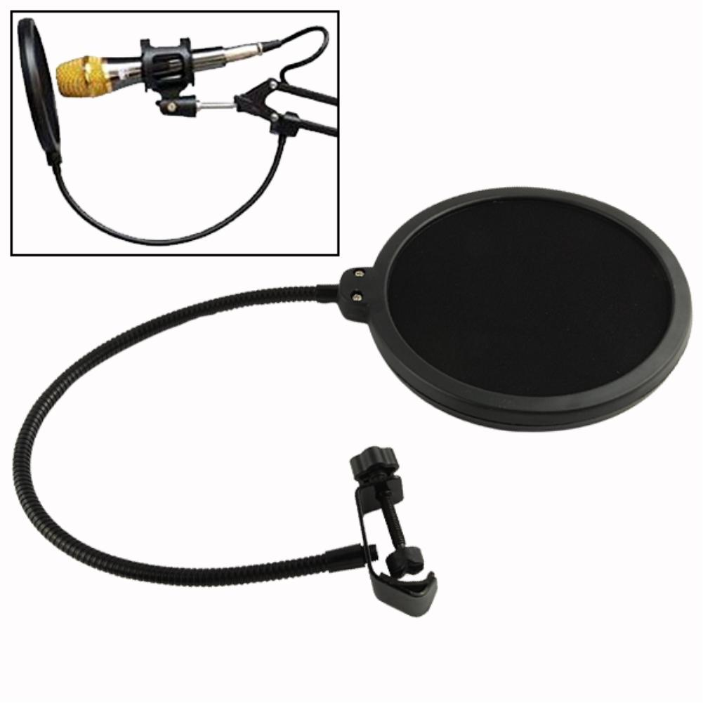 YCDC Hotsale Double Layer Studio Microphone Mic Wind Screen Pop Filter/ Swivel Mount / Mask Shied For Speaking Recording EN4107(China (Mainland))