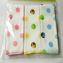 3pcs/lot Baby Handkerchief Combed Cotton Children  Small Hand Towel Newborn Baby Soft Watercloth Feeding Towel 25*25cm