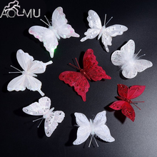 AOMU 10Pcs Mix Style Women Hair Accessories Sweet Rhinestone Feather Butterfly Hairpins Hair Barrette Girls Hair Clip for Woman
