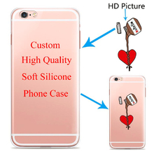 Custom Design DIY phone Case Cover For iPhone 6 6s 5 5s SE 7 6plus Customized Printing Cell Phone Case