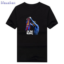 T-shirt for Lionel Messi fans new design The King Barcelona 500 goals T Shirt Men 100% cotton T-shirts for fans gift 0429-7(China)