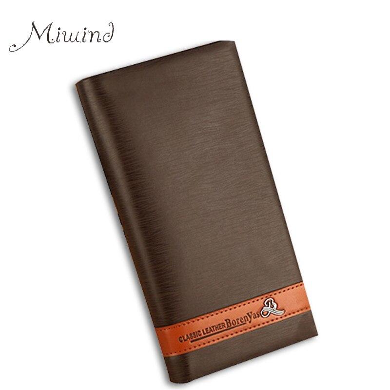 2016 new Vintage luxury designer leather men slim short brand wallet male purse thin portomonee dollar price credit card holder<br><br>Aliexpress