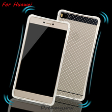 360 full Protection Air Bag Shockproof Transparent Clear Soft TPU Case For Huawei Ascend P7 P8 Lite MATE 7 8 Honor 4C 4X 7I 4A
