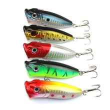 5 colors  Fishing Lures Popper Lure 6.5cm 13g fishing bait 6# high carbon steel hook fishing tackle