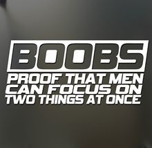 Car Styling Car Covers Boobs Proof That Men Can Focus Sticker Funny Jdm Race Car Detector Truck Window Decal(China)