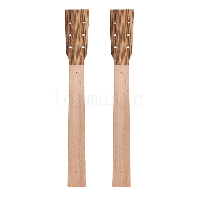 Acoustic Guitar Neck for Guitar Parts Replacement Luthier Repair Diy Unfinished Zebrawood Head Veneer Pack of 2<br>