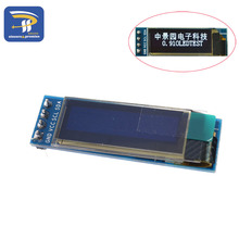 "0.91 inch 12832 white and blue color 128X32 OLED LCD LED Display module 0.91"" IIC Communicate(China)"
