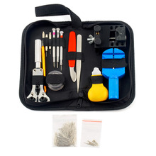 144 Pcs Watchmaker Watch Repair Tool Kit Back Case Opener Remover Watch Strap Spring pins Bar Link Anti-magnetic Screwdrivers(China)