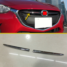 For Mazda 2 Demio DJ DL 2015 2016 2017 ABS Chrome Front Grille Cover Trim
