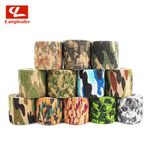 4pcs Self-adhesive Telescopic Non-woven Fabric Outdoor Camouflage Tape Hunting Camouflage Riding Bicycle Stickers Tape CL263(China)