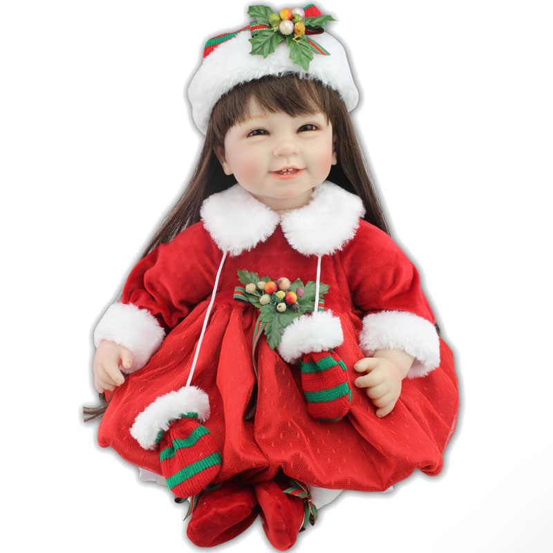Free Shipping 55cm Reborn Doll 22inch Silicone Reborn Doll Toys Relistic Baby Dolls Lifelike Newborn Girl Babies Toys Brinquedos<br><br>Aliexpress