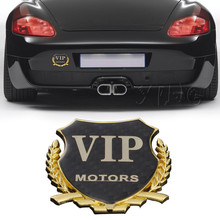 1pcs MOTORS Car Sticker VIP Emblem Badge Decal For BMW Mercedes Audi Volkswagen Ford Focus Nissan Toyota Honda Chevrolet Styling(China)